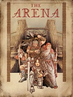 The promotional poster for the Imperial City's Arena mirrors the box art for The Elder Scrolls: Arena.