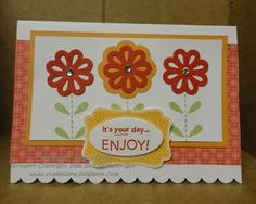 Wednesday, May 25, 2011  Stamping Royalty Sketch Challenge Blossom Bouquet Triple Layer Punch