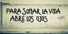 Para soñar la vida abre los ojos #Acción Poética Perú #accion