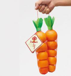 胡萝卜外观的橘子