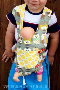 liebste schwester: Puppenbauchtrage im Doppelpack