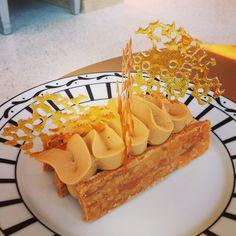 Cafe DIOR  #caramel #millefeuille #diorcafe #instafood #dessert #love #pierreherme