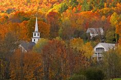 Some parts of the historic Rabbit Hill Inn date back to 1795, when the town served as a halfway point on the trade route from Montreal, Canada, to New England's harbor towns. (No wonder some say it's haunted!) Immerse yourself in autumn hues by taking one of the inn's trails to a riverside hike or participating in the region's annual fall foliage tour on Sept. 23.    - CountryLiving.com