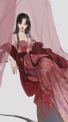 Oc Manga, Chica Anime Manga, Pretty Anime Girl, Beautiful Anime Girl, Anime Girl Dress, Anime Art Girl, Cute Couple Cartoon, Fantasy Art Landscapes, Pretty Drawings