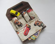 A little cars/cards pouch for Scamp's quiet bag? Easy hand sewing project.
