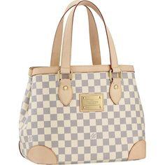 Louis Vuitton Damier Azur Canvas Hampstead PM Beige Women Shoulder Bags And Totes
