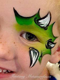Dinosaur Face Painting Image Risultato Source by melaniestraub Dinosaur Face Painting, Monster Face Painting, Dragon Face Painting, Eye Face Painting, Face Painting For Boys, Face Painting Designs, Face Art, Body Painting, Simple Face Painting