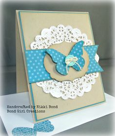 Butterfly Bfirthday Card Handmade Greeting by BondGirlCreations26