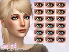 Eyes #8 default version by Aveira at TSR via Sims 4 Updates