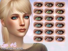 Eyes #8 default version by Aveira at TSR via Sims 4 Updates
