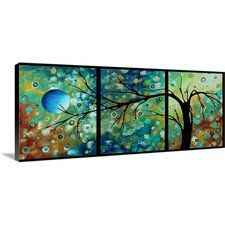 'Morning Blues Black Back' by Megan Duncanson Graphic Art on Wrapped Canvas