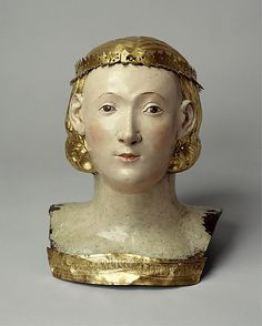 Circle of Giovanni di Bartolo (Italian, active 1364–1404). Reliquary Bust of Saint Juliana, ca. 1376. Italian. The Metropolitan Museum of Art, New York. The Cloisters Collection, 1961 (61.266) #Cloisters
