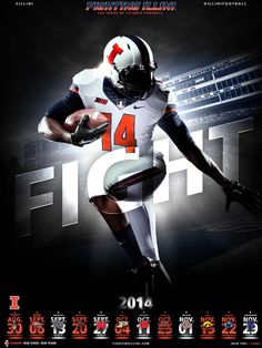 Fighting Illini Football: 2014 Illini Football Schedule Poster - IllinoisLoyalty.com