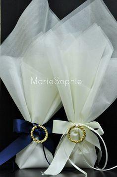 Χειροποίητη μπομπονιέρα γάμου#στεφάνι χρυσό#www.mariesophie.gr