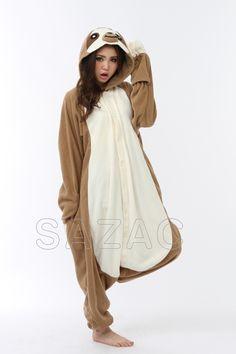 Fleece Sloth Onesie Kigurumi Costume Pajama