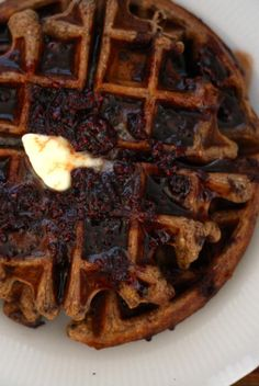 Chocolate Chip Einkorn Belgian Waffles