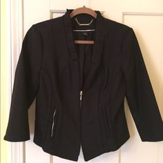 White Black blazer coat This is a great coat. 3/4 sleeve black with great details. Gently worn. White House Black Market Jackets & Coats