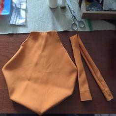 Creazione borsa porta mollette color arancio in tessuto elasticizzato!