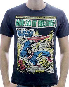 Marvel And So It Begins - Camiseta para hombre, color negro, talla XL #camiseta #starwars #marvel #gift