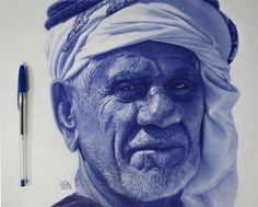 "Untitled"", Ballpoint pen portrait by Mostafa Mosad Khodeir Biro Art, Ballpoint Pen Art, Ballpoint Pen Drawing, Portrait Au Crayon, Portrait Art, Realistic Drawings, Art Drawings, Ballpen Drawing, Stylo Art"