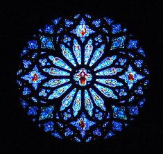 Art - Windows & Stained Glass - Blue rose-window - some version of this found in so many cathedrals. Stained Glass Church, Stained Glass Art, Stained Glass Windows, Mosaic Glass, Cathedral Windows, Church Windows, Cathedral Church, Mandala Art, Vishuddha Chakra