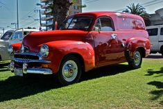 1953 Australian Holden FJ panel van with original Royal Mail paint work. Holden Muscle Cars, Aussie Muscle Cars, Hot Rod Trucks, Cool Trucks, Vintage Cars, Antique Cars, Australian Cars, Panel Truck, Van For Sale