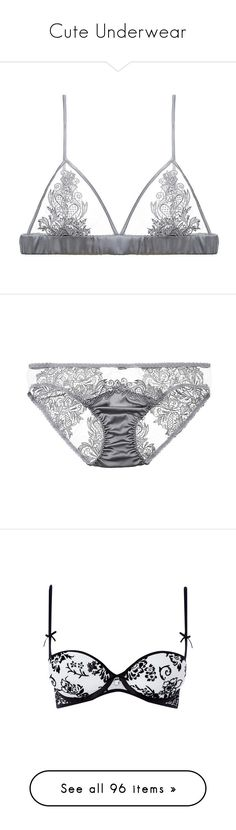 """Cute Underwear"" by detta13 ❤ liked on Polyvore featuring intimates, bras, underwear, lingerie, tops, duskygrey, lingerie bra, sheer lace bra, transparent bra and transparent lingerie"
