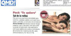 Aparición en la revista Qué Me Dices! con el Pack Te Quiero para este San Valentín
