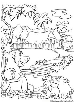 108 Best Disney Jungle Book Coloring Pages Images On