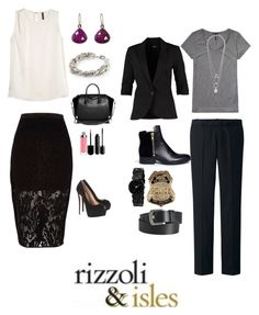 Rizzoli & Isles board by rachael-stransky on Polyvore featuring MANGO, Scotch & Soda, mbyM, River Island, Uniqlo, 3.1 Phillip Lim, Giuseppe Zanotti, Givenchy, Anne Klein and Solow