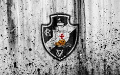 Download wallpapers FC Vasco da Gama, 4k, grunge, Brazilian Seria A, logo, Brazil, soccer, football club, Vasco da Gama, stone texture, art, Vasco da Gama FC