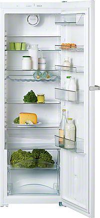 K 12820 SD - Freestanding refrigerator practical interior space & versatile storage with Dynamic cooling--NO_COLOR Single Door Fridge, Single Doors, Door Shelves, Glass Shelves, Pigeon Pair, Vegetable Drawer, Freestanding Fridge, Indirect Lighting, Bottle Rack