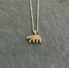 Icon Bear Necklace in Bronze