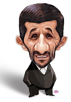 Ahmadinejad2 Funny Caricatures, Celebrity Caricatures, Face Distortion, Funny Sketches, Realistic Cartoons, Film Icon, Cinema Tv, Caricature Drawing, Portraits