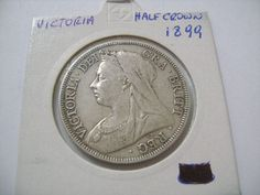 1899 Old Great Britain Half Crown with Queen Victoria  and