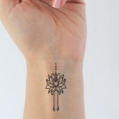 Set lotus temporary tattoo / boho temporary by encredelicate                                                                                                                                                                                 Mais