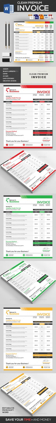 Futione Invoice Template Adobe photoshop, Creative and Template - invoice print