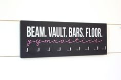 Gymnast Medal Holder / Display - Beam Vault Bar Floor Gymnastics - Medium