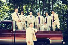 somethin' bout a truck. #MinneapolisWeddingPhotographer #WeddingPhotography #Groomsmen #CountryWedding
