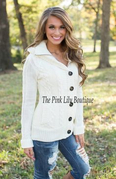 The Pink Lily Boutique - Chill No More Jacket Ivory , $45.00 (http://thepinklilyboutique.com/chill-no-more-jacket-ivory/)