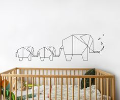 Piccolo Elephant Origami Wall Decal More