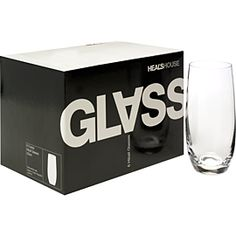 Heal's House Boxed Glasses. This affordable range of boxed set glassware offers contemporary style without compromising on quality or design.  Graphic Packaging