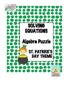 Free Subtraction Worksheets For 3rd Grade Word Saint Patricks Day Algebra Activity Polynomial Operations  Math Worksheets For Multiplication with Convert To Scientific Notation Worksheet Excel This Puzzle Contains  Questions That Will Help Students Practice Solving  Multistep Equations Printable Medical Terminology Worksheets Word