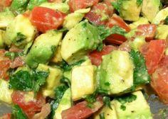 Gail's Orange whitefish with avocado/tomato salad