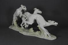 Hutschenreuther Windhunde Windhund Greyhound Whippet Hund dog Figur figure