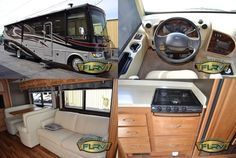 """This Used 2013 #Holiday_rambler Vacationer 34SBD #Class_A_Motorhome is available with w/Rear Queen Bed w/Nightstand, Washer/Dryer Cabinet, 19"""" LCD TV & Shirt Closets w/Drawers Slideout, Bath w/Toilet, Sink, Tub/Shower & Linen Cabinet, 32"""" LCD TV in Living Area, Booth Dinette & 68"""" Hide-A-Bed Slide, Overhead Storage Above Cab Area, Countertop Ext., Dbl. Kitchen Sink, 3 Burner Range w/Micro. Above, Refrigerator, Pantry, Ford 22,000 lb and much more. Find More details at UsedRvs-MotorHomes.Com"""