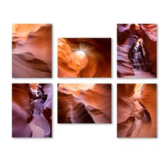 Rocks Wall 6 Piece Photographic Print on Wrapped Canvas Set