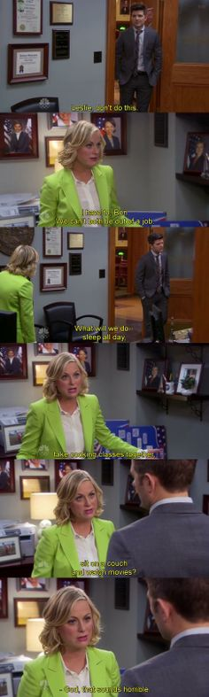 Leslie Knope and Ben Wyatt / Parks and Recreation