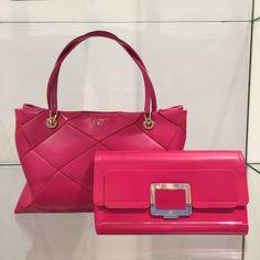 Bags by @rogervivier #RogerVivier #bag #pink #FolliFollie