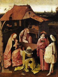 ❤ - HIERONYMUS BOSCH (1450 - 1516) - Epiphany - Adoration of the Magi.  Museum of Art, Philadelphia.
